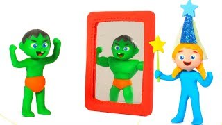 SUPERHERO BABIES PLAY WITH COSTUMES ❤ Superhero Babies Play Doh Cartoons For Kids