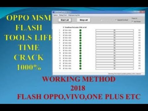 Msm Download Tool Oppo A71 2018