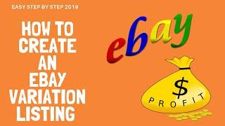 How To Create Ebay Variation Listings Step By Step