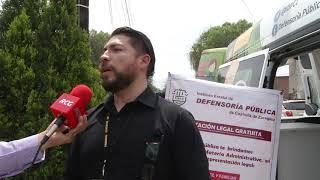 Llevan defensoría móvil gratuita a colonia Guayulera