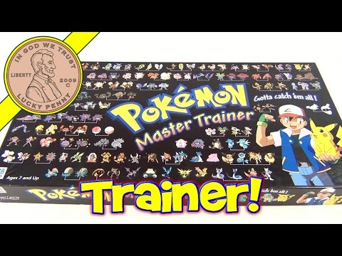 Pokemon Master Trainer Board Game #41215, 1999 Milton Bradley - Gotta Catch 'Em All!