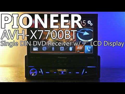 "Pioneer AVH-X7700BT 7"" Flip-Up Single DIN Car DVD Receiver - Review"