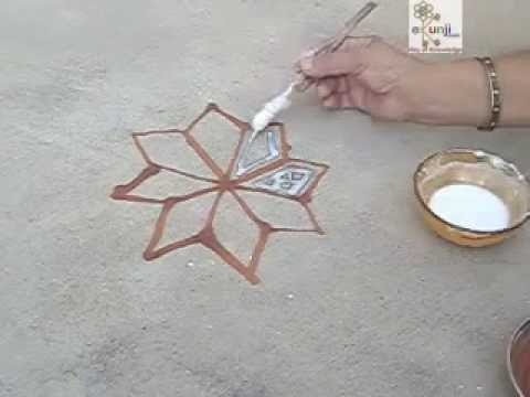 traditional rajasthani mandana rangoli design by ekunji