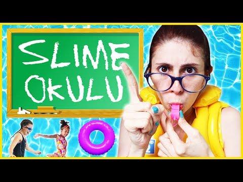 Slime Okulu Öğretmen Öğrenci Havuz Eğlenceli Çocuk Videosu Dila Kent