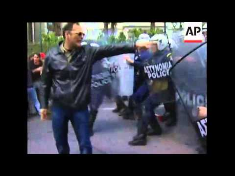 Police clash with protesters at May Day