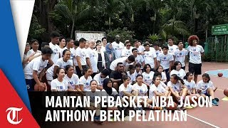 Mantan Pebasket NBA Jason Anthoney Richardson Saat Memberikan Pelatihan di SMA 82 Jakarta