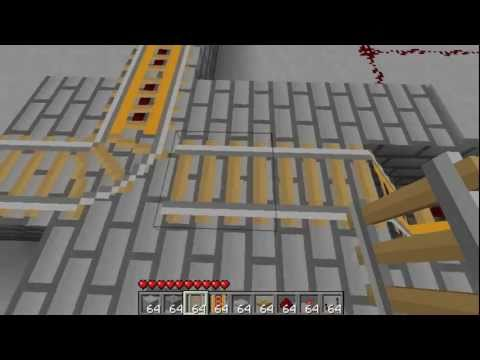 Single-Destination Minecart Station Minecraft Project
