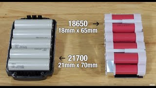 21700 vs 18650 Lithium-ion Battery Cells, Packs, and Technology