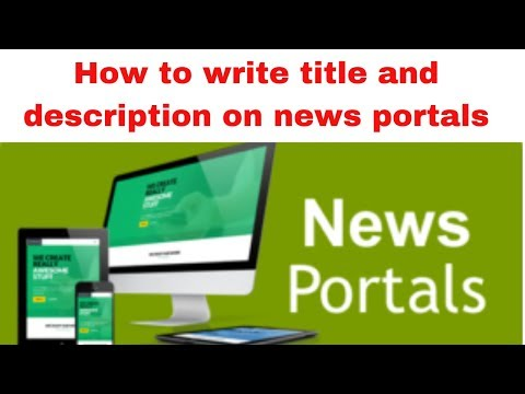 How to write title and description on news portals 2019