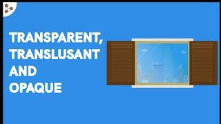 Transparent Objects, Opaque Objects and Translucent Objects | Don't Memorise