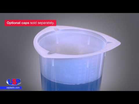+// 800mL Ajax Scientific Polypropylene Tripour Beaker 5.0 Percent Graduation//Accuracy