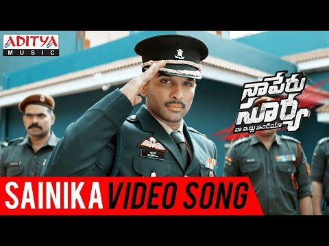 Sainika Video Song   Naa Peru Surya Naa illu India Songs   Allu Arjun  Anu Emmanuel Vakkantham Vamsi
