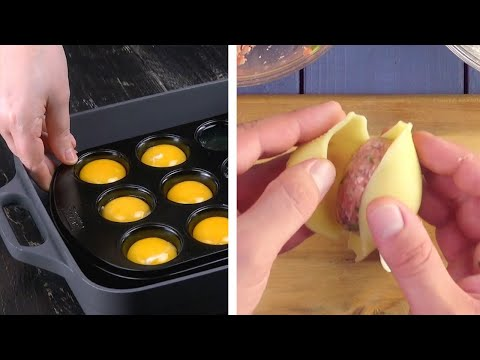Separate Egg Whites & Egg Yolks In A Muffin Pan! | 10 Tasty Appetizers