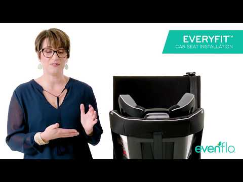 Evenflo EveryFit 4-in-1 Convertible Car Seat Install - Rear Facing with LATCH