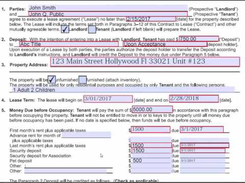 How to complete and fill out a FAR BAR CL-4 Contract to Lease