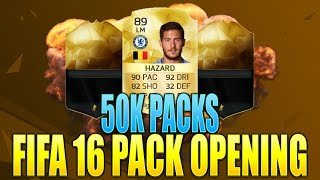 FIFA 16 6X50K PACKS  INSANE IN FORMS & HAZARD IN A PACK FIFA 16 PACK OPENING