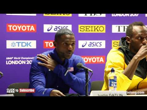 USAIN BOLT SHUTS DOWN A REPORTER WHO ASKS ABOUT DRUGS IN 100m Finals PRESS CONFERENCE
