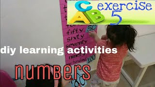 Learning activities for 3 year old - numbers