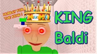 BOW DOWN TO GIANT KING BALDI!! | The Weird Side of Roblox: Baldi's Basics Obby