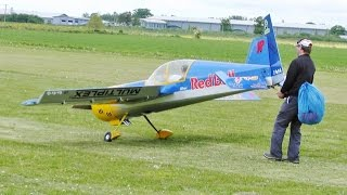 GIANT 55% SCALE RC PILOT YAK 54 3D DISPLAY - STEVE CARR AT LMA MODEL AIRCRAFT SHOW  ROUGHAM - 2015