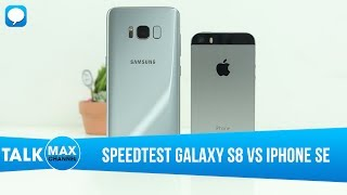 [Vui Vẻ] Speedtest IPhone SE Vs Galaxy S8: Khi Kiến đè Chết Hổ