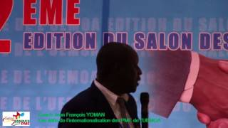 Extrait communication au Salon du Coach Jean François YOMAN : Les défis de l'internationalisation des PME de l'UEMOA