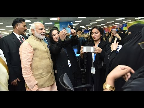 PM Modi addresses TCS All Women IT & ITES Center in Riyadh, Saudi Arabia