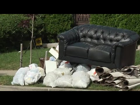 Communities deal with waterlogged trash