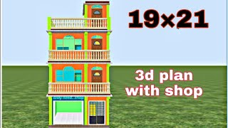 19 By 21 Home Plan By Prems Home Plan   House Plan With Shop
