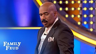 SHOCKING answer! Steve completely STUNNED!!! | Family Feud