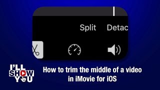How to trim the middle of an iPhone video in iMovie for iOS