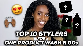 TOP 10 STYLERS FOR ONE PRODUCT WASH N GO | CURLSMAS DAY 20 | Lydia Tefera