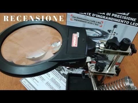 Set di precisione con lente d'ingrandimento a led - recensione