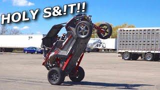 Turbo RZR RS1 RIPS WHEELIES!!! 0-60 tests, wheelies, and SLICKS!