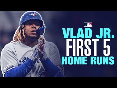 Vlad Jr's first 5 career home runs