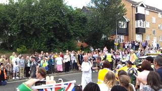 preview picture of video 'OLYMPIC TORCH - GRAYS, ESSEX  - LAUREN BEARD TO KIRK CROSS'