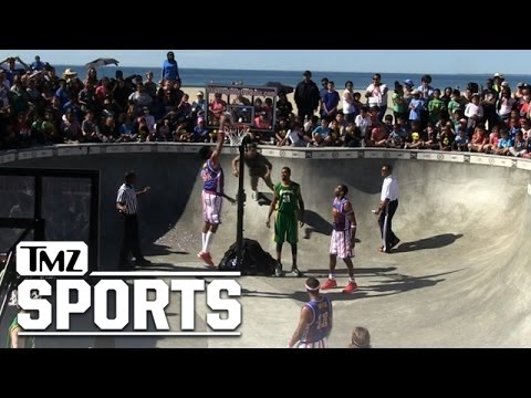 Harlem Globetrotters -- BALLIN' OUT ... In Famous Venice Skate Park   TMZ Sports