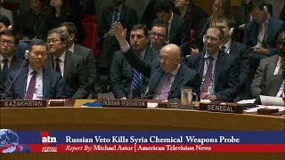 Russian Veto Kills Syria Chemical Weapons Probe