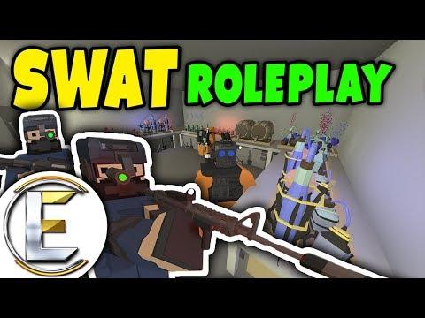 Unturned - SWAT | BIG BUST! Secret Underground drug factory raid ( Roleplay )