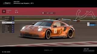 Gran Turismo™SPORT - Autodrome Lago Maggiore GP II Porsche RSR Gr3 (online race)