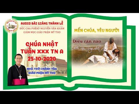 Đức Cha Phêrô suy niệm CN XXX TN A: MẾN CHÚA, YÊU NGƯỜI