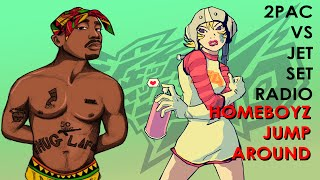 2Pac vs Jet Set Radio - Homeboyz(Everybody Jump Around Remix)