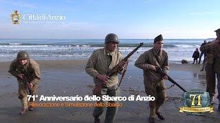 preview picture of video '25-01-15 71° Anniversario - Rievocazione dello Sbarco di Anzio (22-01-1944)'