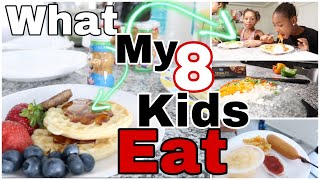 WHAT MY 8 KIDS EAT IN A DAY| AT HOME