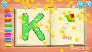 How to write the letter ''K' in capitals. Trace, Learn & Have Fun.