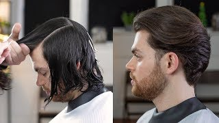 Transformation | Classic Mid Length Men's Haircut With Disconnection | Rum Barber Tutorial