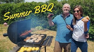 Summer weekend Barbecue in Canada with Audrey's Dad the Grill Master