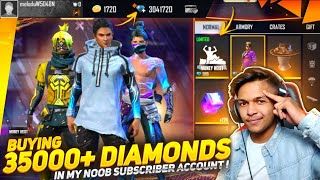 First Time Gifting 40,000 Diamonds In My Biggest Subscriber Account || LIVE REACTION || Free Fire