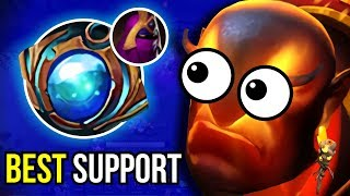 Support Ember Spirit Aether Lens + Veil of Discord 7.07 Funny Gameplay Dota 2   UPSIDE DOWN #2