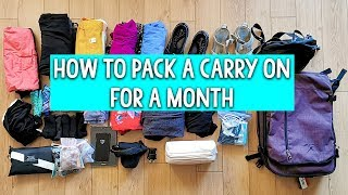 How To Pack A Carry On For A Month [Backpacking Europe Packing List]